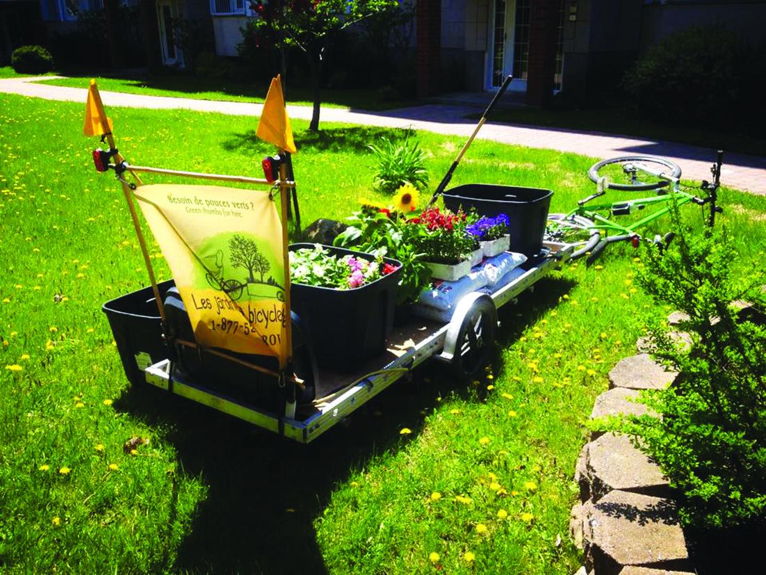 Les jardiniers à bicyclette