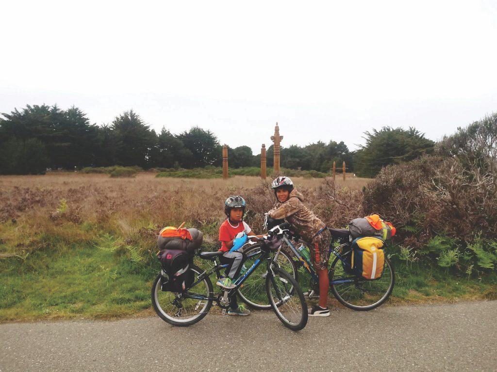 Famille cyclotourisme aventure