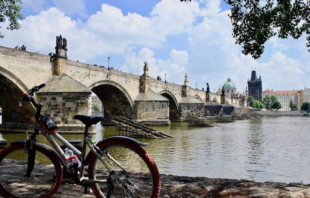 Prague cycling